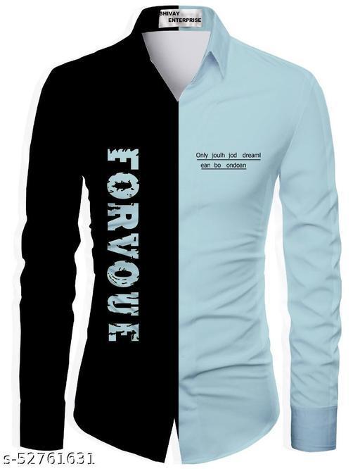 greey color unstitched shirt for men
