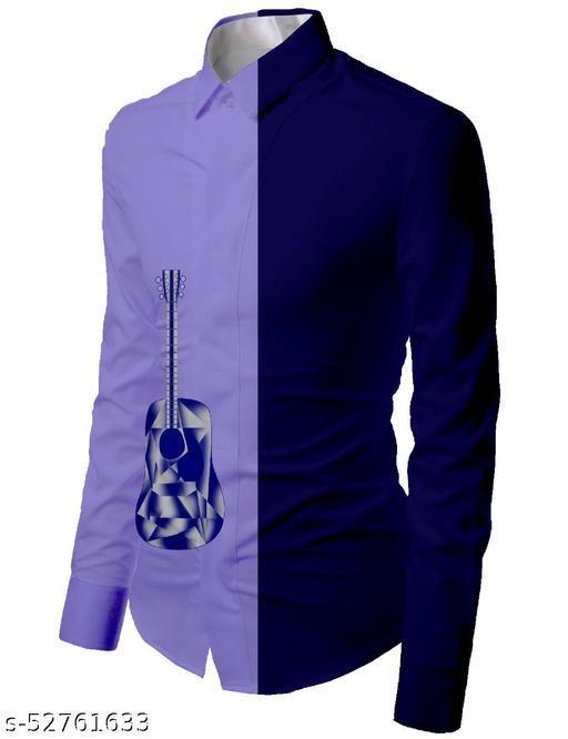purpole color unstitched shirt for men