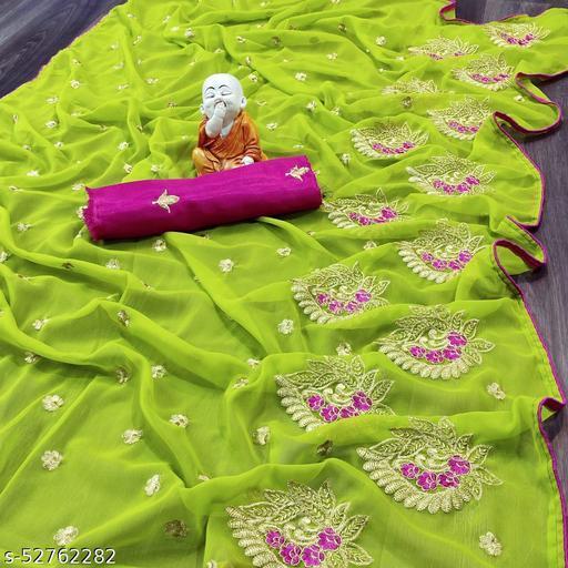 BKENTERPRISE new presenting round with embroidery skirt pallu work Blouse SAREE