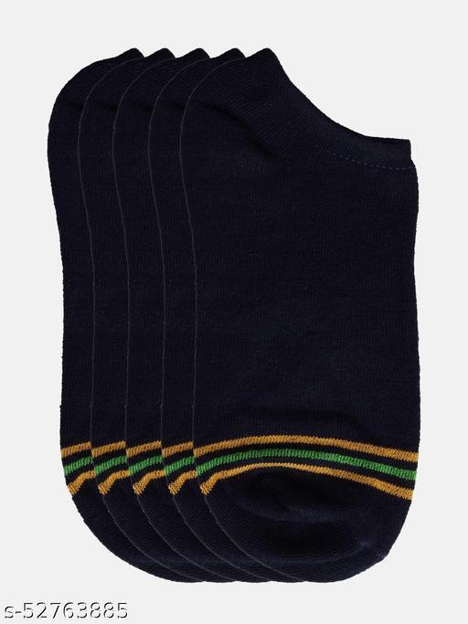 Men Pack Of 5 Assorted Ankle-Length Socks