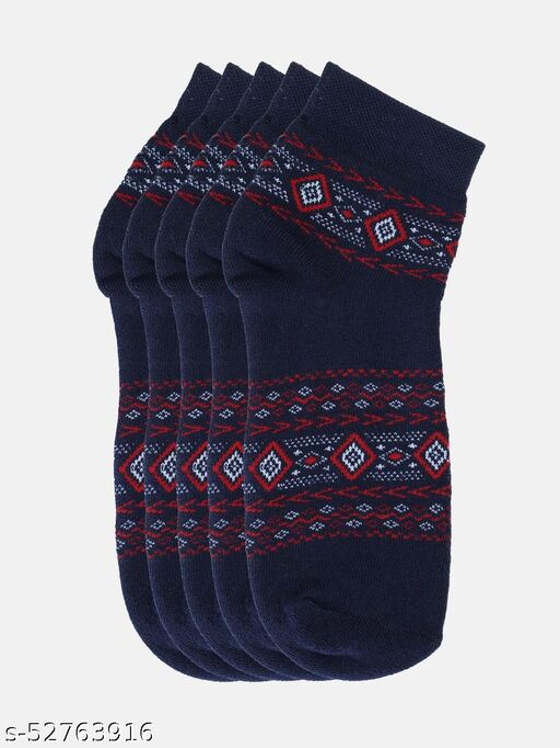 Men Pack Of 5 Assorted Above Ankle-Length Socks
