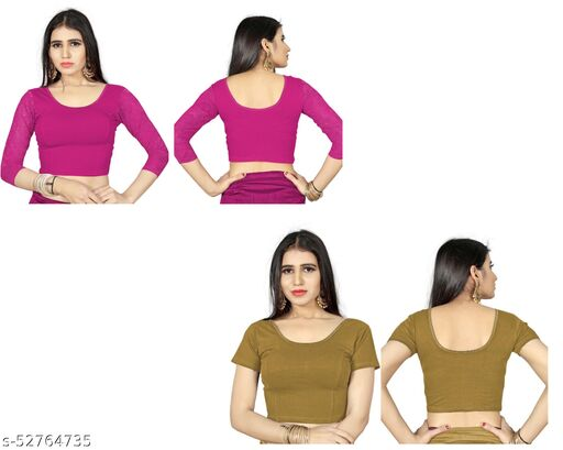 Stretchable Readymade Lycra Cotton Blouse For Women