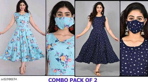 Zanies Sleeveless Crepe Maxi Dress Combo Pack Of 2