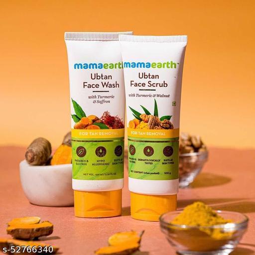 n-1 Mamaearth Tan Removal Combo(Ubtan - Face Wash 100ml + Face Scrub 100g)