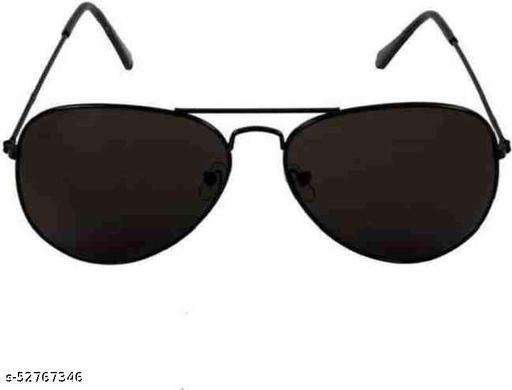 UV Protection Aviator Sunglasses (Free Size)  (For Men & Women, Black)