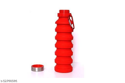Hattrick Foldable Water Bottle (550 ml) Travel & Sports (Red)