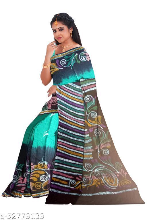 Formal ware hand printed batik saree