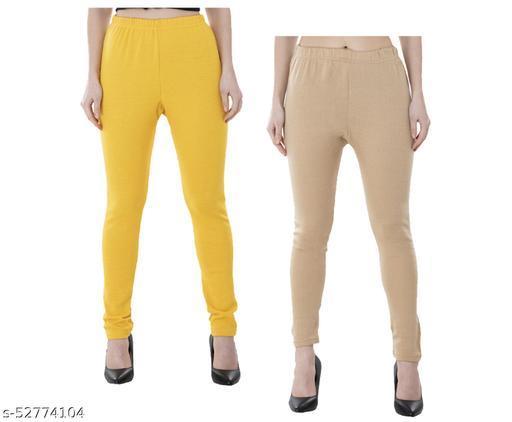 KAVYA Women Warm Wollen Solid Legging (Pack of 2)