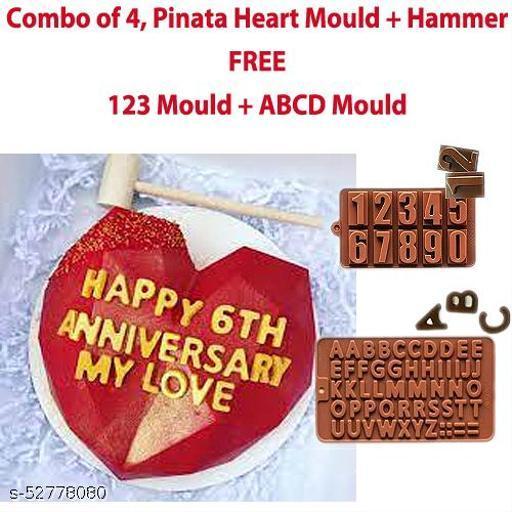 Heart Shape Pinata Cake Making Mould