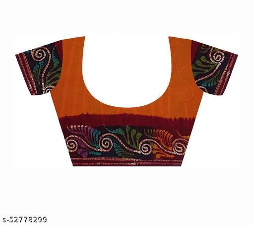 Casual ware hand printed batik saree