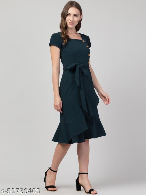 Casual Women button frill dress