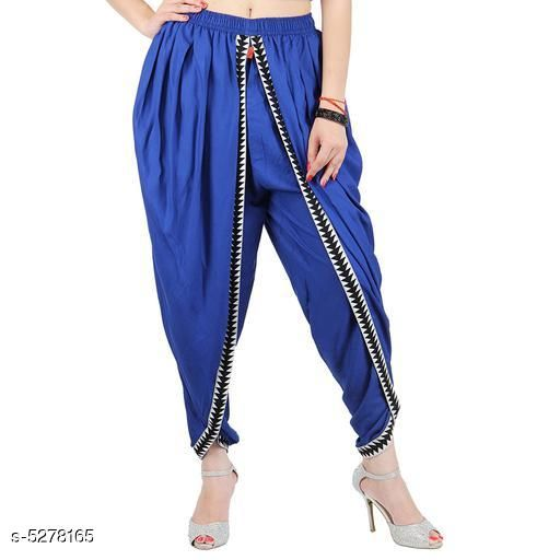 Ethnic Bottomwear - Salwars & Chudidars Refined Women Patiala Salwar  *Fabric* Rayon  *Set Type* Patiala Salwar  *Bottom Type* Patiala Salwar  *Pattern* Solid  *Multipack* Single  *Sizes* L - 30 in, XL - 32 in  *Length Size* Up To 42 in  *Sizes Available* L, XL *   Catalog Rating: ★4.6 (7)  Catalog Name: Banita Refined Women Patiala Salwar CatalogID_783114 C74-SC1017 Code: 105-5278165-