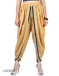 Ethnic Bottomwear - Salwars & Chudidars Refined Women Patiala Salwar  *Fabric* Rayon  *Set Type* Patiala Salwar  *Bottom Type* Patiala Salwar  *Pattern* Solid  *Multipack* Single  *Sizes* L - 30 in, XL - 32 in  *Length Size* Up To 42 in  *Sizes Available* L, XL *   Catalog Rating: ★4.6 (7)  Catalog Name: Banita Refined Women Patiala Salwar CatalogID_783114 C74-SC1017 Code: 315-5278167-