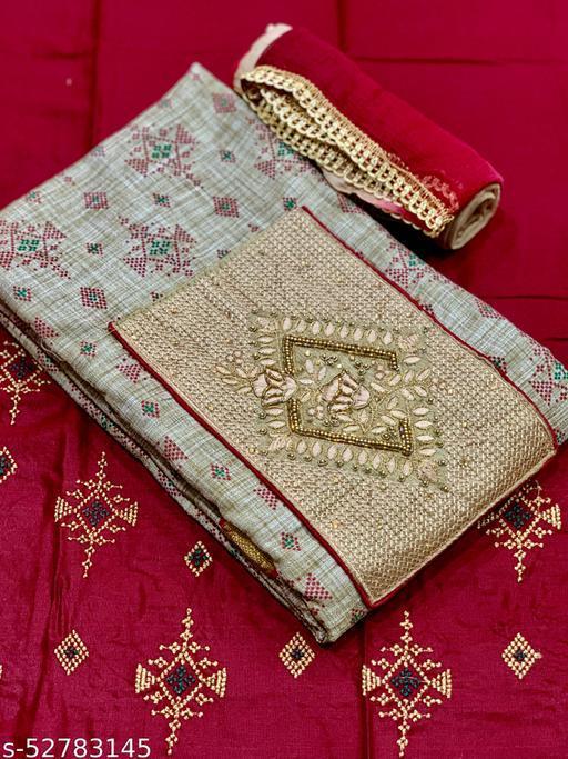 Premium quality fabric with hand work Patiyala suit