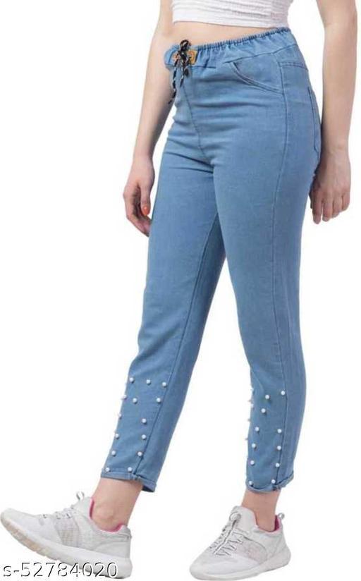 SAINATH TRADERS LIGHT BLUE 50 PEARL Jeans