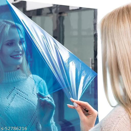 Mirror Tile Wall Sticker Square Self Adhesive Room Bathroom Decor Stick Mirror Wall Sticker Self Adhesive Film –50 x 50 cm