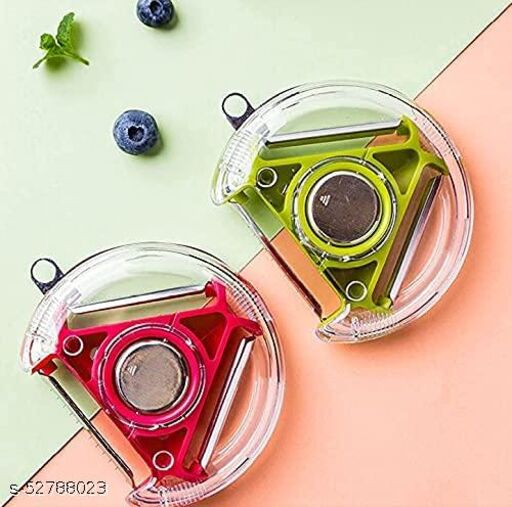 3 in 1 Vegetable Pealer, Multifunctional Fruit Peelers with 3 Sharp Blades and Protective Covers,
