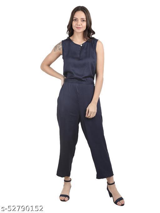 Highfy Women's Rayon A-Line Maxi Dress Jumpsuit