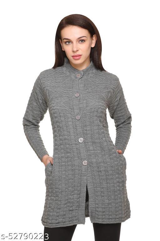 Women's Woolen Grey Sweaters