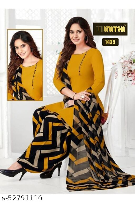 Casual And Festive Wear Women Dress Material And Salwar Suit Sets For Women & Girl Printed-Type( Unstitched )