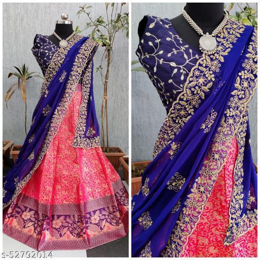 Siya Fashion Fancy Banarasi Jacquard Lehenga Choli