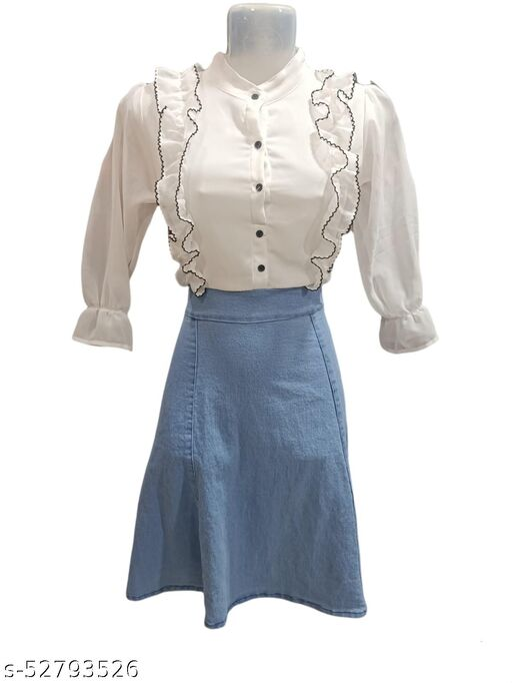 Shiffon Denim Skirts
