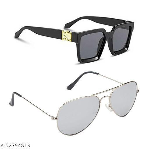 Alfalah Combo of 2 Sunglasses For Men & Women