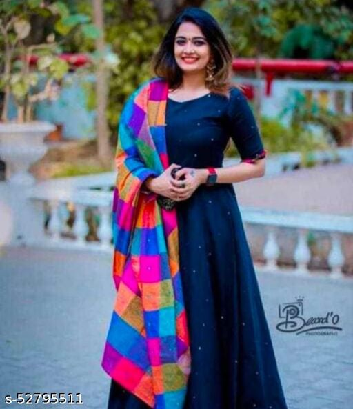 Moti work Gown With Dupatta