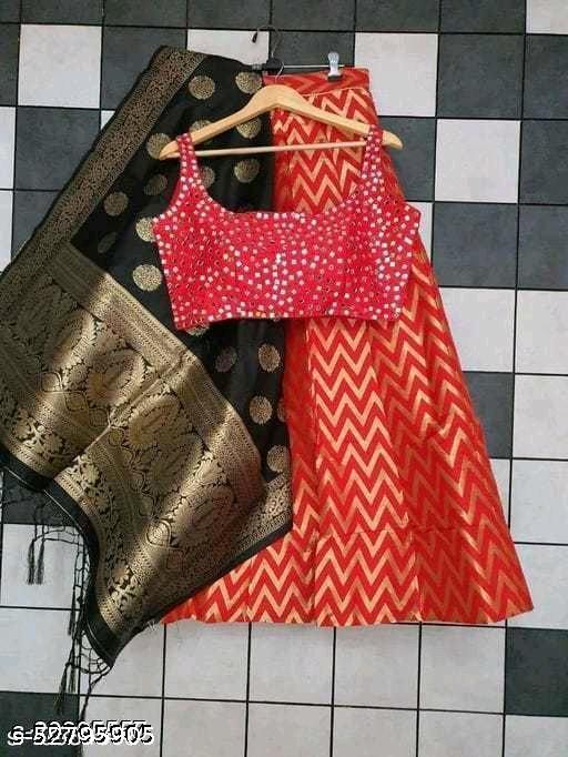 Self Design Semi Stitched Lehenga Choli