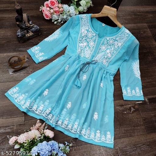 Trending Chikankari Work Heavy GeorgetteWestern Dress