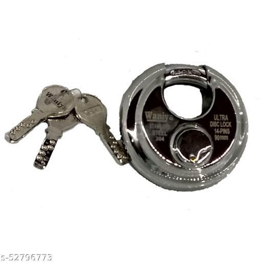 Hydur™ WANIYA Steel Shutter Lock 14PIN Heavy Ultra Key 90MM Silver