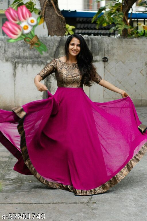 indo western gown for women