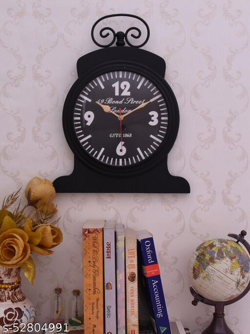 Wall Clock Engineered Wood (Black)