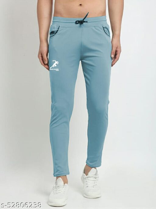 Men's Sky Blue Cross Country Club  Dry Fit Four Way lycra Solid Track Pant