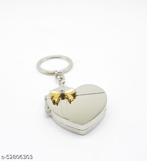 Multicolour Classy Fancy Heart Shape Photo Frame Memories Metal Keyring