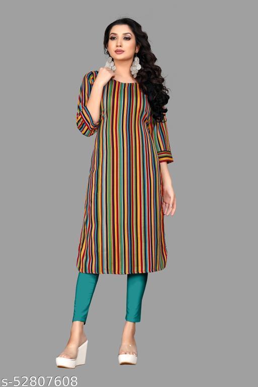 Dharma Fashion Women's Crepe Kurti