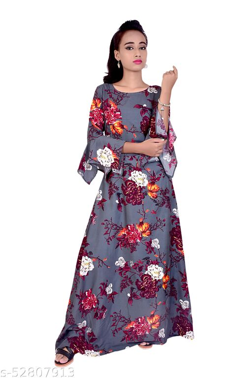 Alok Fashion letest desinger gown for women grey colour