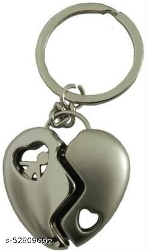 Broken Heart inside Couple Metal keyring Key Chain