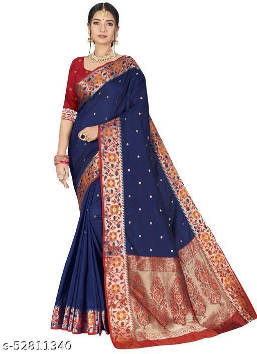 Navy Blue Party Wear Designer Art Silk Sarees