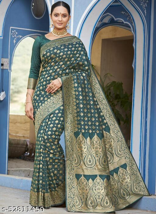 Green Party Wear Designer Art Silk Sarees