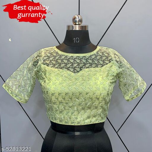 SIFLY WORK FOR PARTY WEAR, BACK OPEN BLOUSE.