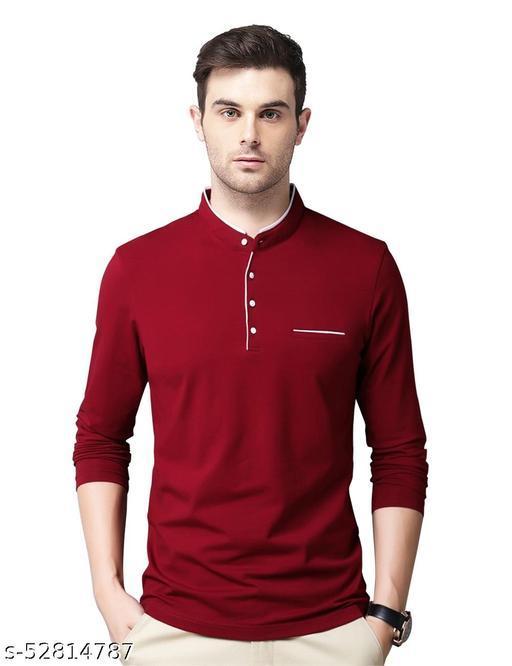 Eyebogler Mens Cotton Solid T-Shirts