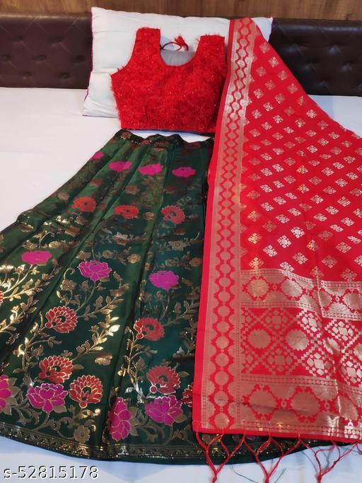 KB30 Banarasi brocade Lehnga and ready paded Blouse and Banarasi duppta