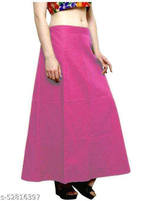 Women's Cotton Petticoat For Saree (Pink)