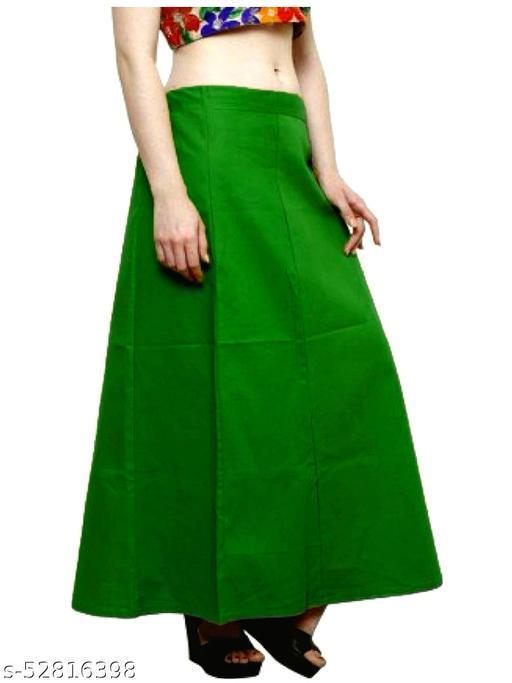 Women's Cotton Petticoat For Saree (Green)