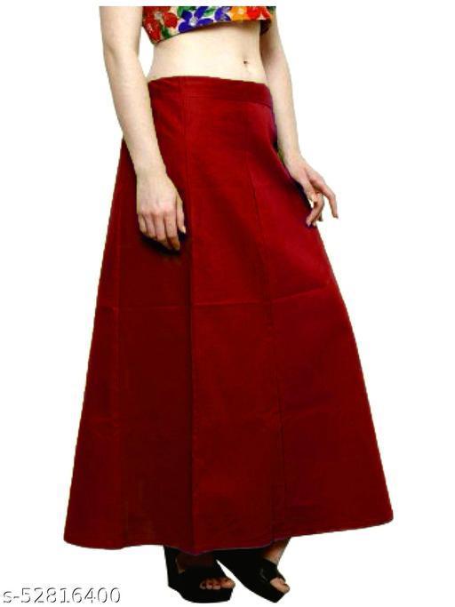 Women's Cotton Petticoat For Saree (Maroon)