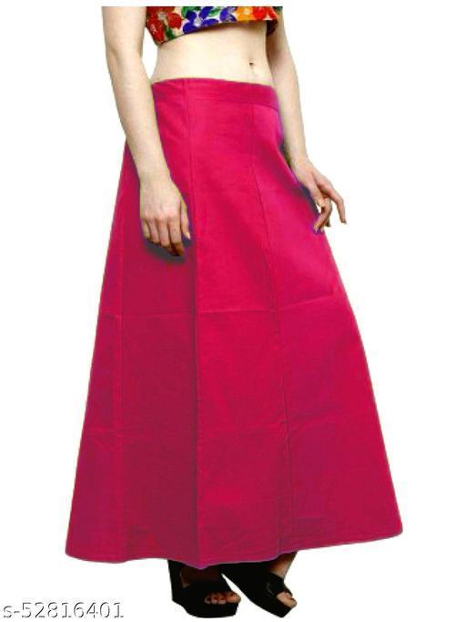 Women's Cotton Petticoat For Saree (DarkPink)