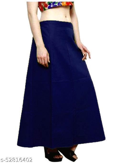 Women's Cotton Petticoat For Saree (NavyBlue)