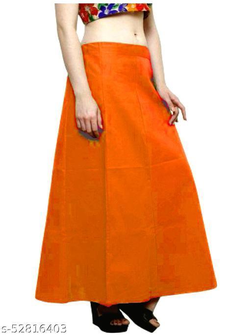 Women's Cotton Petticoat For Saree (Orange)