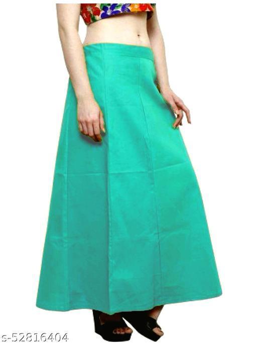 Women's Cotton Petticoat For Saree (RamaGreen)
